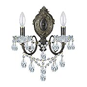 Legacy 2-Light Swarovski Strass Wall Sconce (item #RS-03CR-5192X)