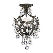 Legacy 3-Light Swarovski Strass Flush-Mount Ceiling Light (item #RS-03CR-5193-CEILINGX)