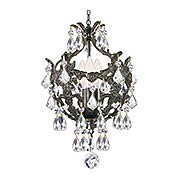 Legacy 3-Light Swarovski Strass Mini Chandelier (item #RS-03CR-5193X)