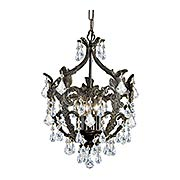 Legacy 5-Light Swarovski Strass Mini Chandelier (item #RS-03CR-5195X)