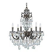 Legacy 6-Light Swarovski Strass Chandelier (item #RS-03CR-5196X)