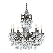 Legacy 8 Light Swarovski Strass Crystal Bronze Chandelier (item #RS-03CR-5198X)