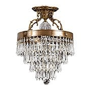 Crystal Wedding Cake Ceiling Light In Aged Brass (item #RS-03CR-5273-AG-CL-MWP)