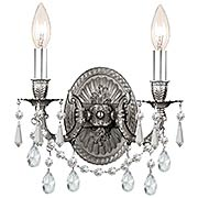 Gramercy 2-Light Wall Sconce in Antique Pewter (item #RS-03CR-5522-PW-CL-MWP)