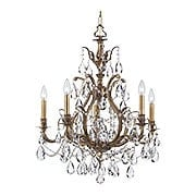 Dawson Brass & Crystal Chandelier With Antique Finish (item #RS-03CR-5575-AB-CL-MWP)