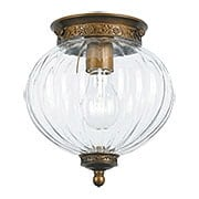 Camden Federal Style Ceiling Light With Melon Glass Shade (item #RS-03CR-5780-AB)