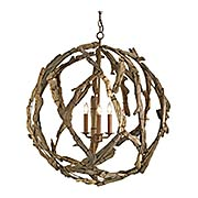 Driftwood Orb 3-Light Chandelier (item #RS-03CU-9078)
