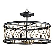 Crisscross Pendant / Flush Mount Ceiling Light (item #RS-03CU-9902)