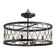 Crisscross Pendant / Flush Mount Ceiling Light (item #RS-03CU-9902)