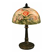 Rose Dome Hand Painted Table Lamp (item #RS-03DT-10057-610)