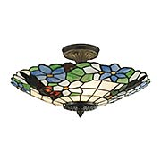 Pansy Tiffany Semi Flush Mount (item #RS-03DT-3660-3LTF)