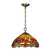 Reves Dragonfly Tiffany Hanging Fixture (item #RS-03DT-TH12270)