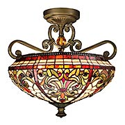 Baroque Tiffany Semi Flush Mount (item #RS-03DT-TH13090)