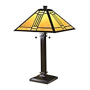 Noir Tiffany Mission Table Lamp (item #RS-03DT-TT100015)