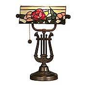 Broadview Bank Tiffany Accent Table Lamp (item #RS-03DT-TT90186)