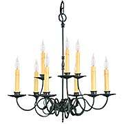 Roanoke 9 Light Chandelier (item #RS-03FR-F-1319-CH)