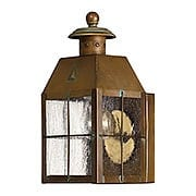 Nantucket Small Porch Light With Clear Seedy Glass (item #RS-03HK-2376AS)