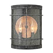 Newport 2-Light Exterior Wall Sconce (item #RS-03HK-2624DZ)
