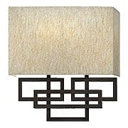 Lanza 2-Light Sconce with Oatmeal Linen Shade (item #RS-03HK-3162OZ)
