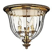 Cambridge Flush Ceiling Light With Ribbed Glass Shade (item #RS-03HK-3612X)