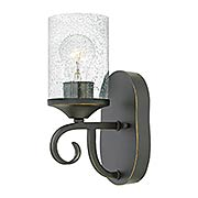 Casa Small 1-Light Sconce With Seedy Glass (item #RS-03HK-4010OL-CL)