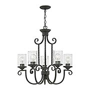 Casa 5-Light Chandelier With Seedy Glass (item #RS-03HK-4015OL-CL)