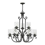 Casa 9-Light Chandelier  With Seedy Glass (item #RS-03HK-4018OL-CL)