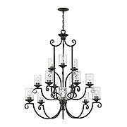 Casa 15-Light Chandelier With Seedy Glass (item #RS-03HK-4019OL-CL)