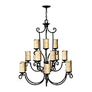 Casa 15-Light Chandelier With Antique Scavo Glass (item #RS-03HK-4019OL)