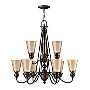 Mayflower Two Tier Chandelier In Olde Bronze (item #RS-03HK-4168OB)