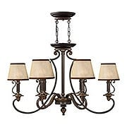 Plymouth Oblong Chandelier In Olde Bronze Finish (item #RS-03HK-4245OB)