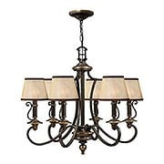 Plymouth 6 Light Chandelier In Olde Bronze Finish (item #RS-03HK-4246OB)