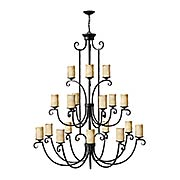 Casa 18-Light Chandelier With Antique Scavo Glass (item #RS-03HK-4309OL)