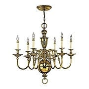 Cambridge 6 Light Chandelier in Solid Brass (item #RS-03HK-4416X)