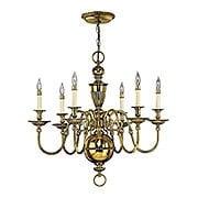 Cambridge 6 Light Chandelier in Solid Brass (item #RS-03HK-4416X)