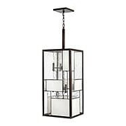Mondrian Large 12-Light Foyer Pendant in Buckeye Bronze (item #RS-03HK-4576KZ)