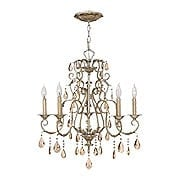 Carlton 5 Light Chandelier With Silver Leaf Finish (item #RS-03HK-4775SL)