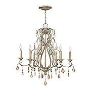 Carlton 6 Light Chandelier With Silver Leaf Finish (item #RS-03HK-4776SL)
