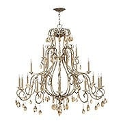 Carlton 21 Light Chandelier With Silver Leaf Finish (item #RS-03HK-4779SL)