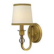 Morgan 1-Light Wall Sconce with Curved Arm (item #RS-03HK-4870X)