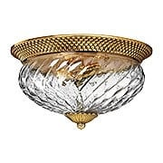 Plantation Large Flush Mounted Ceiling Light With Clear Optic Glass (item #RS-03HK-4881X)
