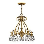 Pineapple 5 Light Chandelier With Clear Optic Glass Shades (item #RS-03HK-4885X)