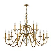 Eleanor Two Tier 15-Light Chandelier (item #RS-03HK-4959HBX)