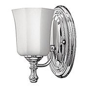 Shelly Single Sconce with Opal Glass Shade (item #RS-03HK-5010X)