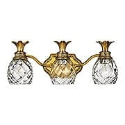 Pineapple Triple Bath Sconce With Clear Optic Glass (item #RS-03HK-5313X)