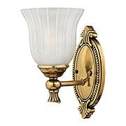 Francoise Bath Sconce With Ribbed Glass Shade (item #RS-03HK-5580X)