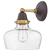 Academy 1-Light Wall Sconce with Curved Bell Shade (item #RS-03HK-67002X)