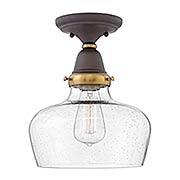 Academy Flush-Mount Ceiling Light with Curved Bell Shade (item #RS-03HK-67012X)