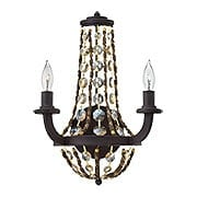 Hamlet Rope & Crystal Sconce In Vintage Bronze (item #RS-03HK-FR42862VBZ)
