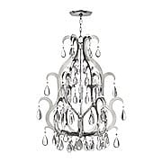 Xanadu Large 12 Light Chandelier In Polished Stainless Steel (item #RS-03HK-FR43352PSS)